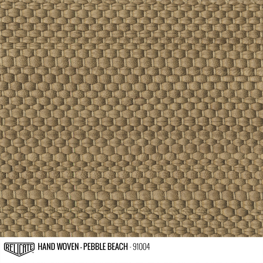 Hand Woven Leather - Pebble Beach Product / 6 Linear Inches - Relicate Leather Automotive Interior Upholstery