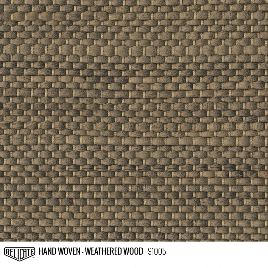 Hand Woven Leather - Weathered Wood Product / 6 Linear Inches - Relicate Leather Automotive Interior Upholstery