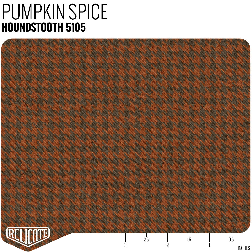 Houndstooth Seat Fabric Pumpkin Spice Relicate