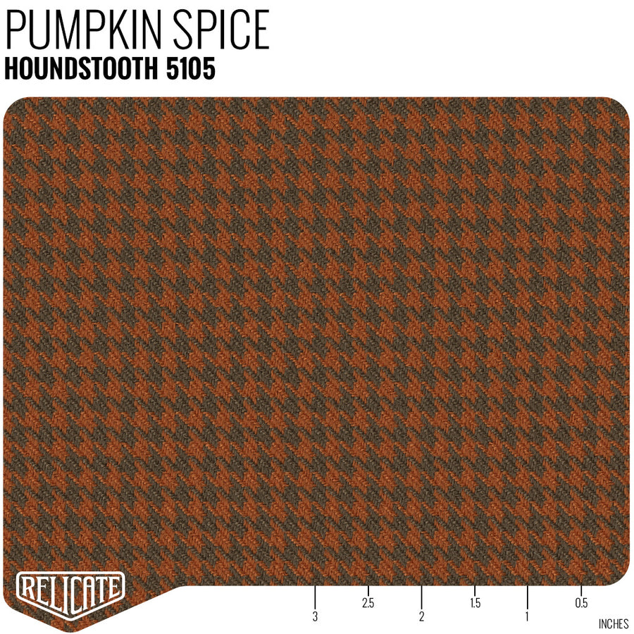 Houndstooth Seat Fabric - Pumpkin Spice Product / Pumpkin Spice - Relicate Leather Automotive Interior Upholstery