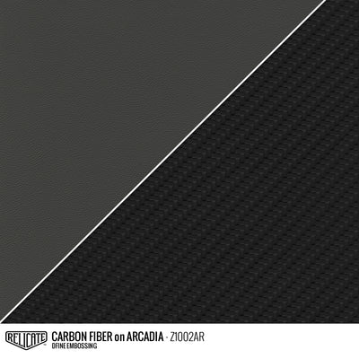 CARBON FIBER EMBOSSED LEATHER Sample / Sample / Arcadia Z1002AR - Relicate Leather Automotive Interior Upholstery