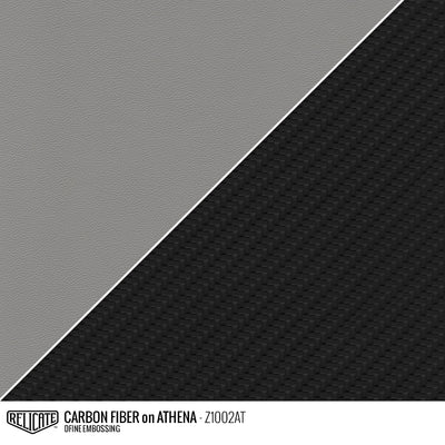 CARBON FIBER EMBOSSED LEATHER Sample / Sample / Athena Z1002AT - Relicate Leather Automotive Interior Upholstery