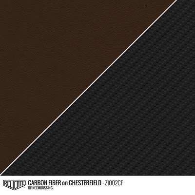 CARBON FIBER EMBOSSED LEATHER Sample / Sample / Chesterfield Z1002CF - Relicate Leather Automotive Interior Upholstery