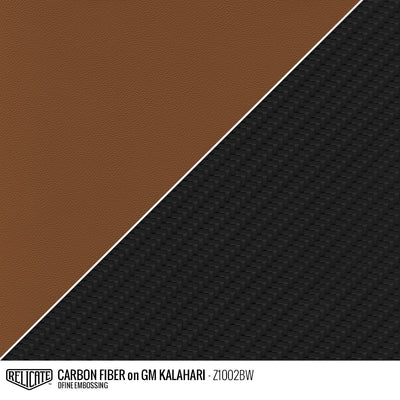 CARBON FIBER EMBOSSED LEATHER Sample / Sample / GM Kalahari Z1002BW - Relicate Leather Automotive Interior Upholstery