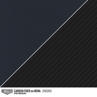 CARBON FIBER EMBOSSED LEATHER Sample / Sample / Kona Z1002KO - Relicate Leather Automotive Interior Upholstery