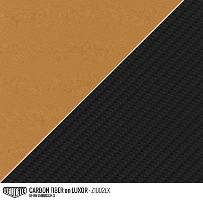 CARBON FIBER EMBOSSED LEATHER Sample / Sample / Luxor Z1002LX - Relicate Leather Automotive Interior Upholstery