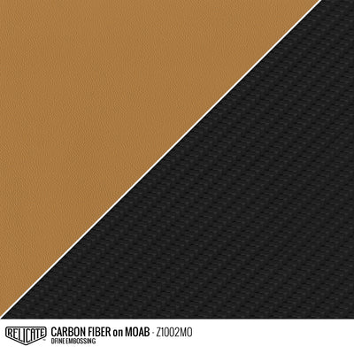 CARBON FIBER EMBOSSED LEATHER Sample / Sample / Moab Z1002MO - Relicate Leather Automotive Interior Upholstery