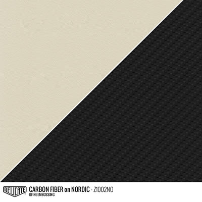 CARBON FIBER EMBOSSED LEATHER Sample / Sample / Nordic Z1002NO - Relicate Leather Automotive Interior Upholstery