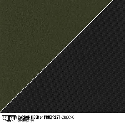 CARBON FIBER EMBOSSED LEATHER Sample / Sample / Pinecrest Z1002PC - Relicate Leather Automotive Interior Upholstery