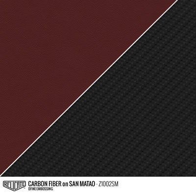 CARBON FIBER EMBOSSED LEATHER Sample / Sample / San Matao Z1002SM - Relicate Leather Automotive Interior Upholstery