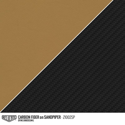 CARBON FIBER EMBOSSED LEATHER Sample / Sample / Sandpiper Z1002SP - Relicate Leather Automotive Interior Upholstery