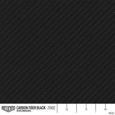 CARBON FIBER EMBOSSED LEATHER Sample / Sample / Black Z1002 - Relicate Leather Automotive Interior Upholstery