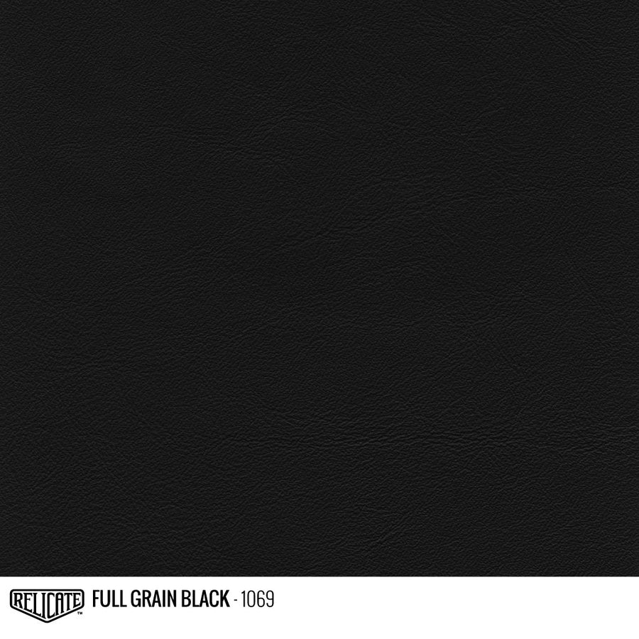 Full Grain Black Leather Product / 1/2 Hide - Relicate Leather Automotive Interior Upholstery