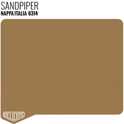 Nappa Italia Leather Sample / Sample / Sandpiper 6314 - Relicate Leather Automotive Interior Upholstery