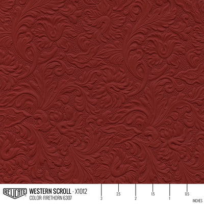 WESTERN SCROLL EMBOSSED LEATHER  - Relicate Leather Automotive Interior Upholstery