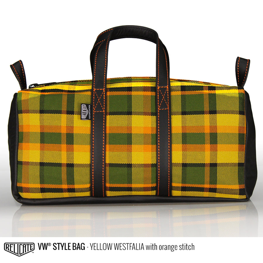 Travel Bag - Yellow Westfalia  - Relicate Leather Automotive Interior Upholstery