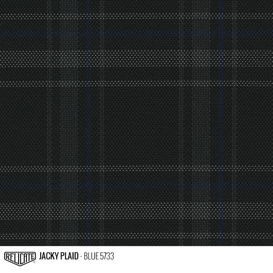 Jacky Plaid Fabric - Blue Product / Blue - Relicate Leather Automotive Interior Upholstery