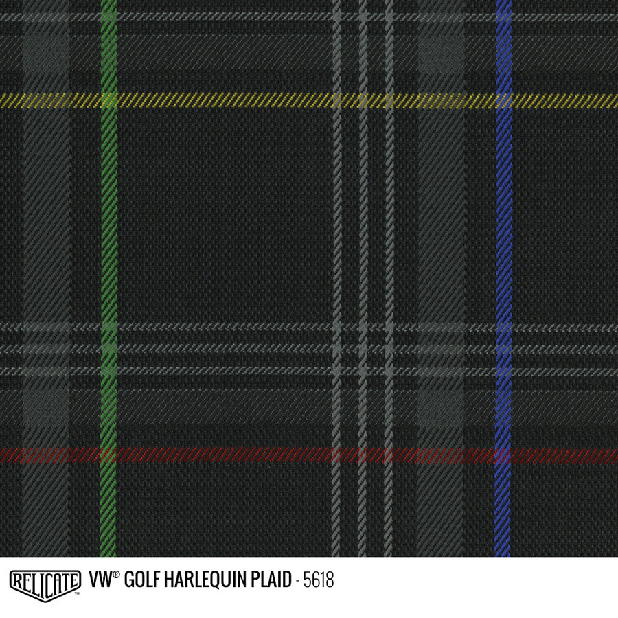 Golf Harlequin Plaid Tartan Fabric - Multi Product / Multi - Relicate Leather Automotive Interior Upholstery