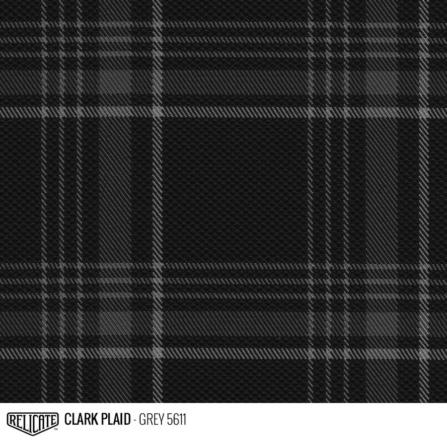 Golf MK7 Style Plaid Tartan Fabric - Grey Product / Grey - Relicate Leather Automotive Interior Upholstery
