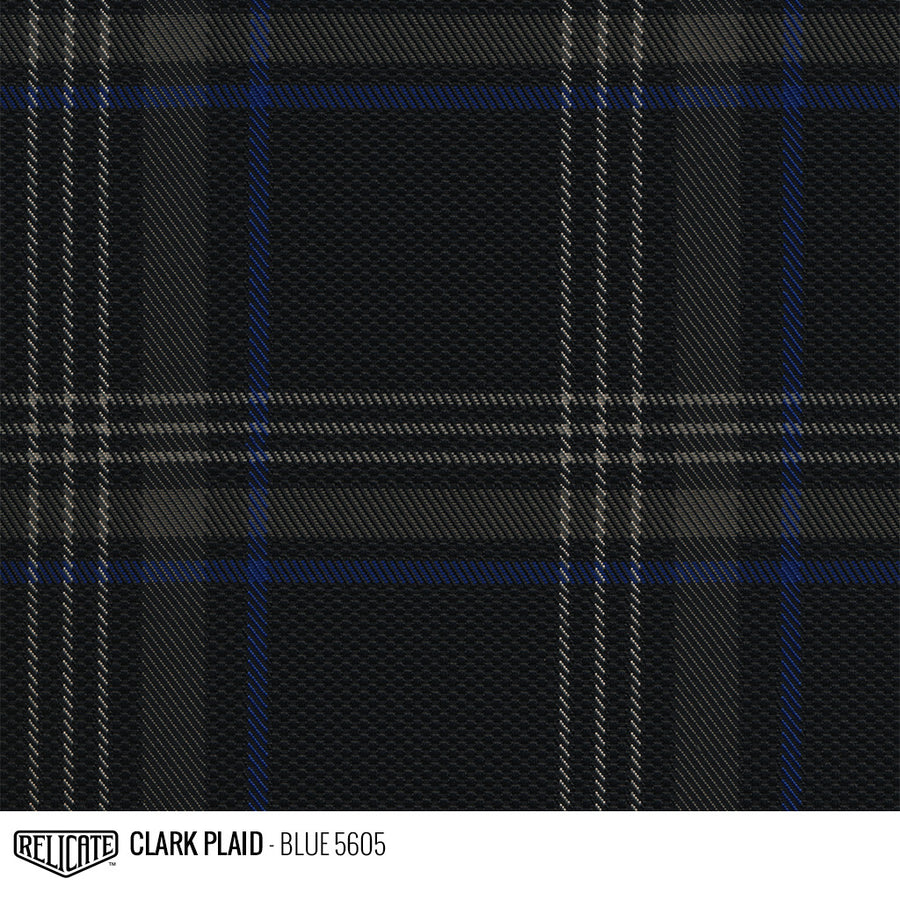 Golf MK7 Clark Plaid Tartan Fabric - Blue Product / Blue - Relicate Leather Automotive Interior Upholstery