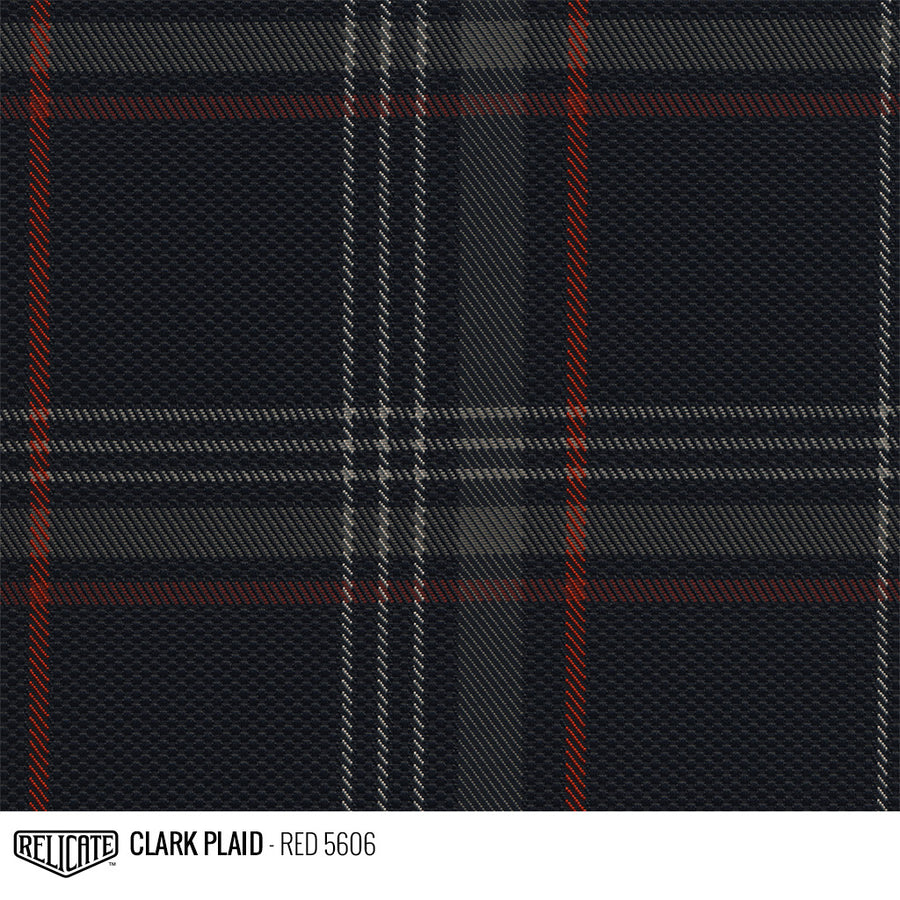Golf MK7 Clark Plaid Tartan Fabric - Red Product / Red - Relicate Leather Automotive Interior Upholstery
