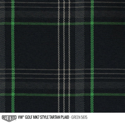 Plaid by the Linear Foot and Half Yard Tartan Green 5615 / Linear Foot - 12 x 60 - Relicate Leather Automotive Interior Upholstery