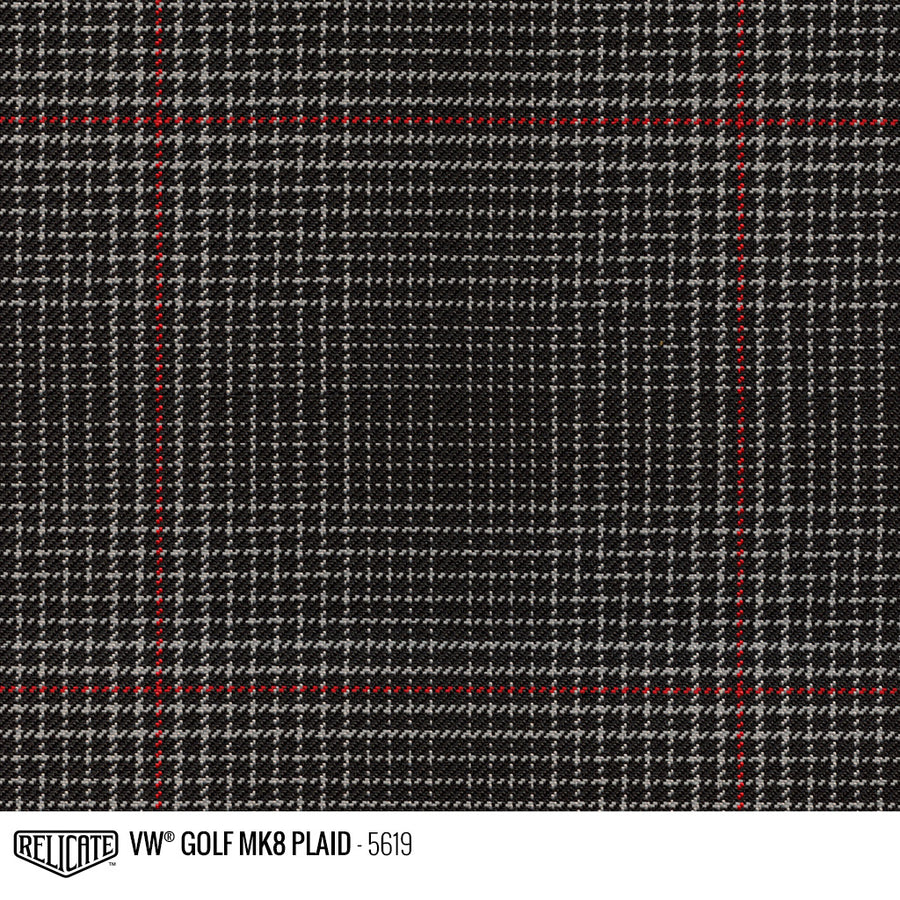 Golf MK8 GTI Plaid Tartan Fabric - Red Product / Red - Relicate Leather Automotive Interior Upholstery