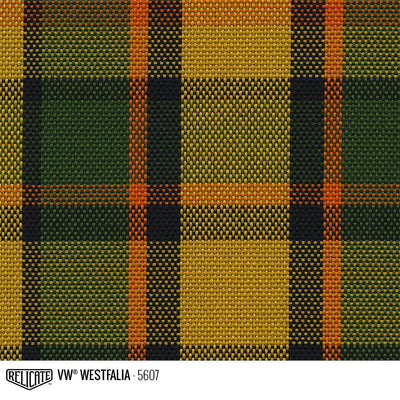 Plaid by the Linear Foot and Half Yard Westfalia Yellow 5607 / Linear Foot - 12 x 63 - Relicate Leather Automotive Interior Upholstery