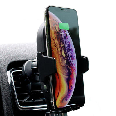 phone wireless fast charger car mount holder with automatic arms