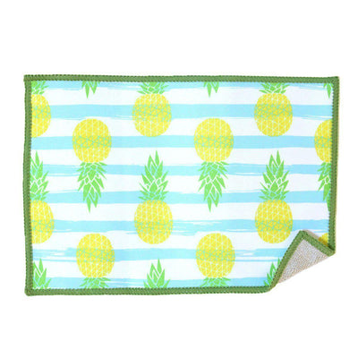 pineapples and stripes deluxe microfiber screen cleaning cloth for iPad, iPhone, glasses, and other touchscreens