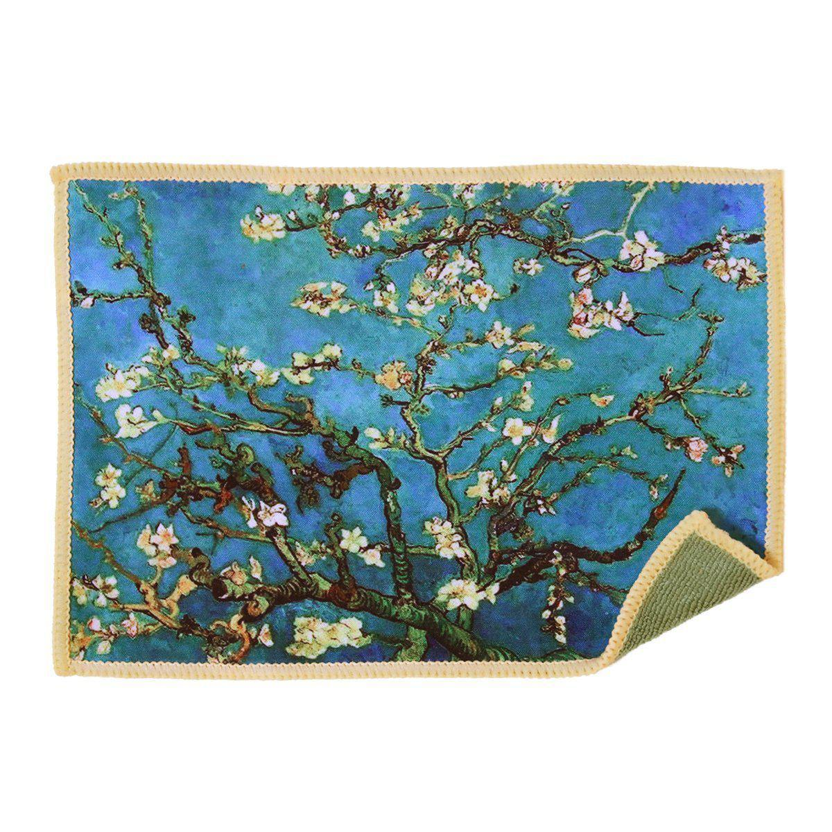 Best iPad cleaning cloth! The Smartie deluxe micro fiber cleaning cloth features beautiful artwork such as van Gogh's Almond Branches in Bloom