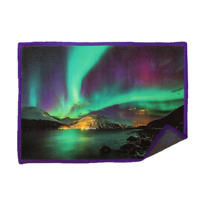 Clean iPad, iPhone, and other touch screens with our Smartie microfiber cloth Aurora Borealis