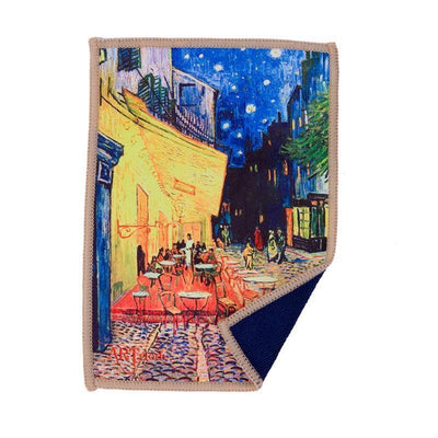 Microfiber cloth provides the best scratch-free cleaning for iPad and features van Gogh's famous art Café Terrace at Night