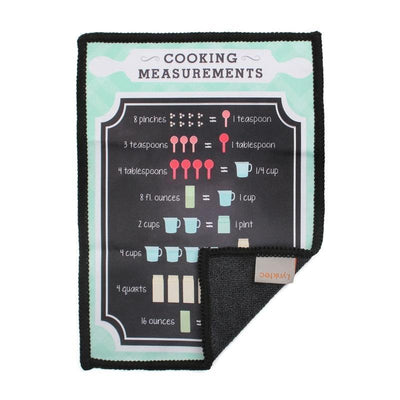 This microfiber screen cleaning cloth with a cooking measurements conversion chart design provides the best scratch-free cleaning for iPad
