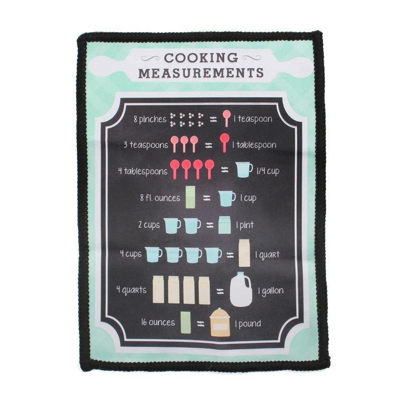 Smartie Microfiber Cloth - Cooking Measurements