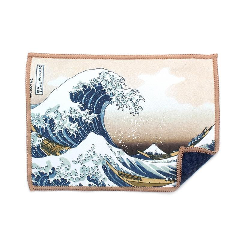 Safely clean your iPad with the Smartie cloth featuring The Great Wave Off Kanagawa by Katsushika Hokusai