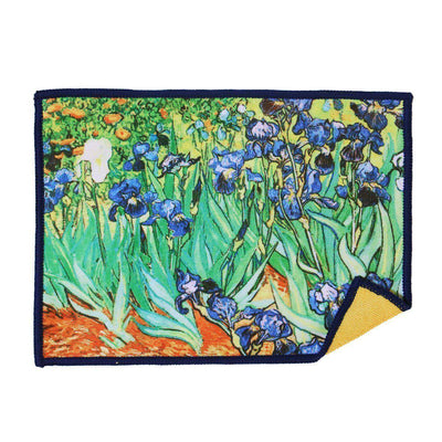 This deluxe screen cleaning cloth in Irises by Vincent van Gogh is a fashionable, artistic way to clean touchscreen surfaces including smartphones, Samsung Galaxy, Nexus 7, iPad, iPhone, Kindle Fire, Nook, laptops, and computers