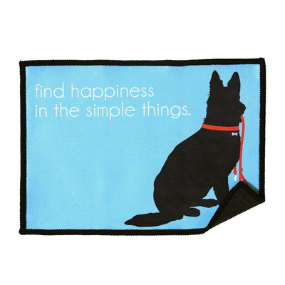plush iPhone / iPad cleaning cloth with adorable design is perfect for dog lovers and features an inspirational quote