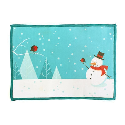 microfiber cloth, cute snowman, holiday design