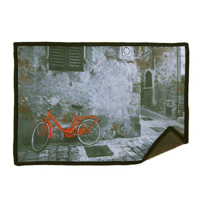 This bicycle design microfiber screen cleaning cloth for iPad/iPhone cleans your screens without liquids