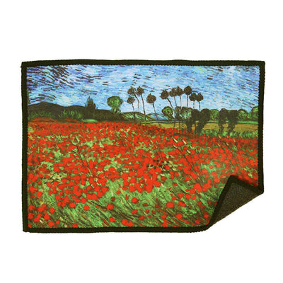 Poppies microfiber cloth provides the best scratch-free cleaning for iPad and features famous art by Vincent van Gogh