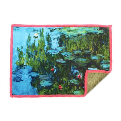 Smartie microfiber cleaning cloth features Claude Monet's Water Lilies