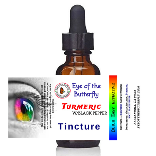 turmeric tincture by eye of the butterfly with black pepper great for inflammation