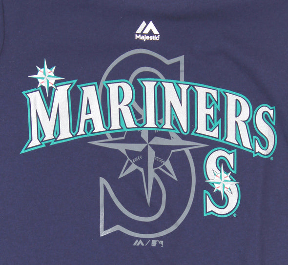 Outerstuff MLB Seattle Mariners Youth Real Gem Short Sleeve Tee, Navy