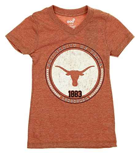 NCAA Youth / Kids Girls Texas Longhorns Triblend Team Rep V-neck T-Shirt