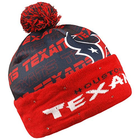Forever Collectibles NFL Adult's Houston Texans Light Up Printed Beanie