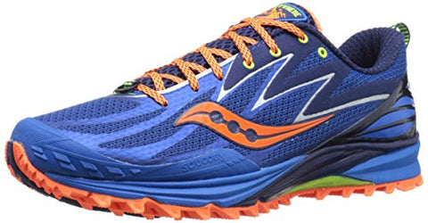 Saucony Men's Peregrine 5 Running Shoe, Blue/Orange