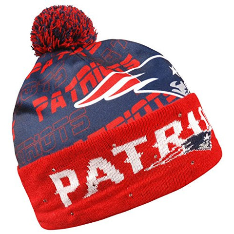 8047ca616ae Forever Collectibles NFL Adult s New England Patriots Light Up Printed  Beanie