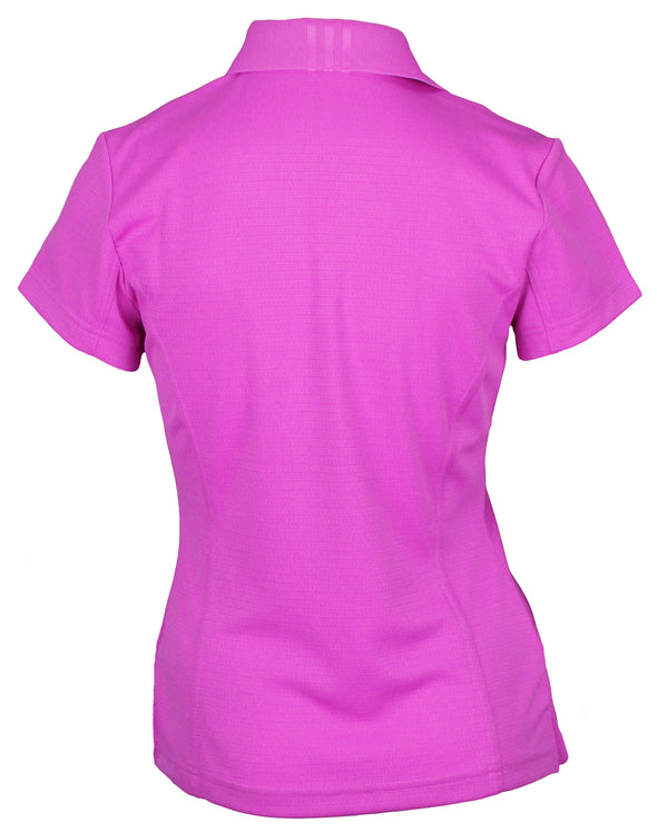 Adidas Taylormade Womens Climalite Solid Polo Shirt, Hibiscus