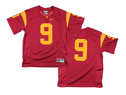 best service bcd1b 0bd76 Nike NCAA Youth Boys USC Trojans #9 Game Replica Football Jersey, Trojan Red